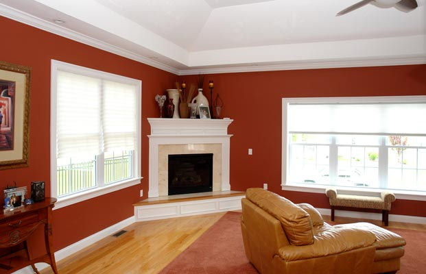 Fireplace Raised Hearth.  2200 Sq Ft Colonial with Two Car Garage Under 5