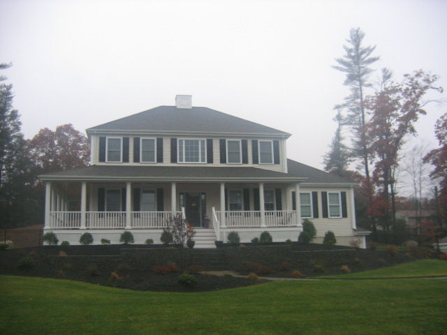 2200 sq ft colonial with two car garage under for Sq ft of 2 car garage