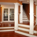 carolina custom collumns border stairs to 2nd floor