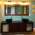 double bowl vanity in master bath